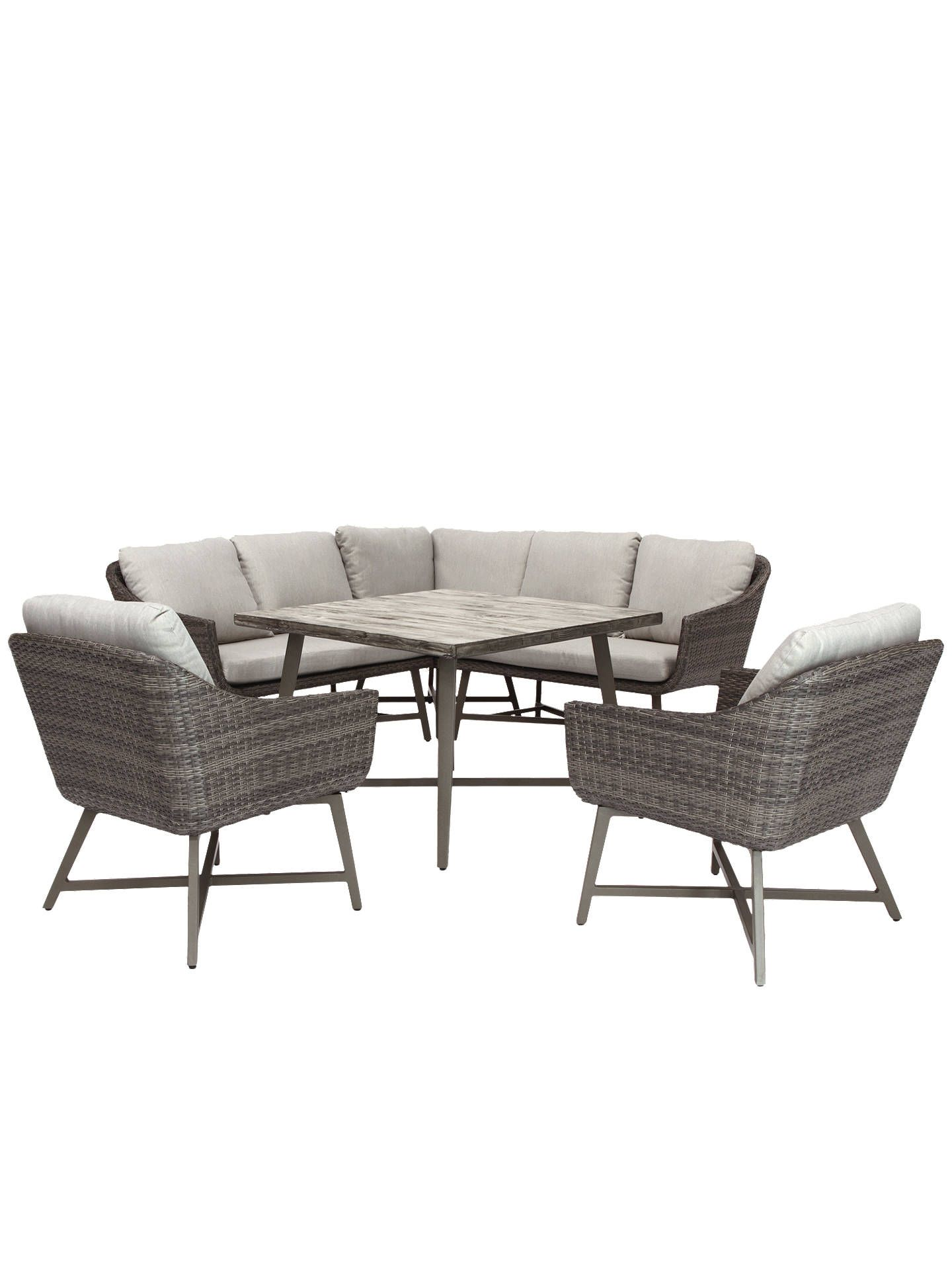 94144a1d4172 KETTLER LaMode Garden Lounging Corner Table and Chairs Set, Grey at John  Lewis & Partners