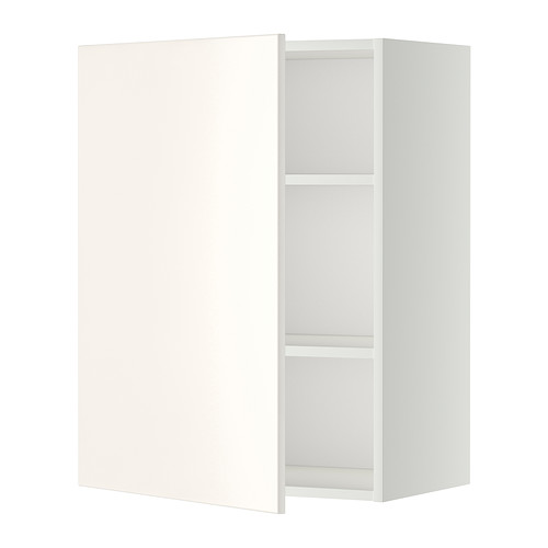 metod wall cabinet with shelves white ringhult white 60x80. Black Bedroom Furniture Sets. Home Design Ideas