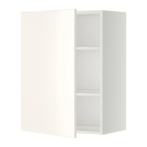 METOD Bovenkast met planken, wit, Veddinge wit - Afstand, Witte ...