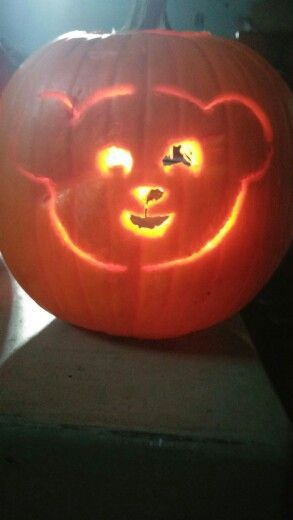 My Snuggle Bear Den Pumpkin I Got The Template For Free