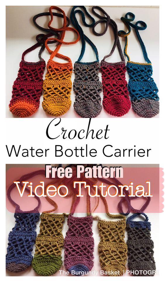 Crochet Lanyard Wine Glass Holder Free Pattern