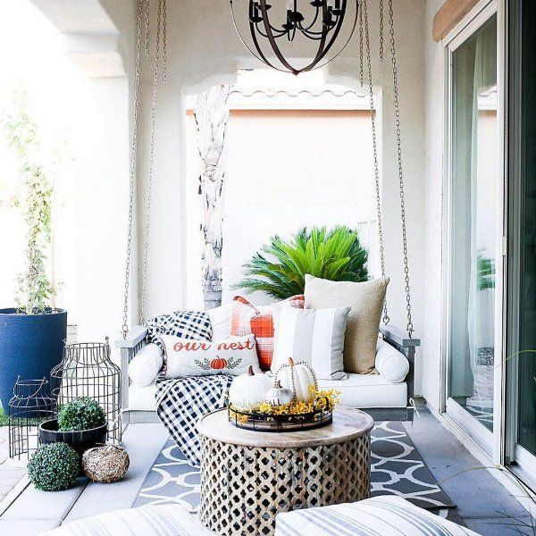 Sunday Porch Swing With Cushions Porch Swing Living