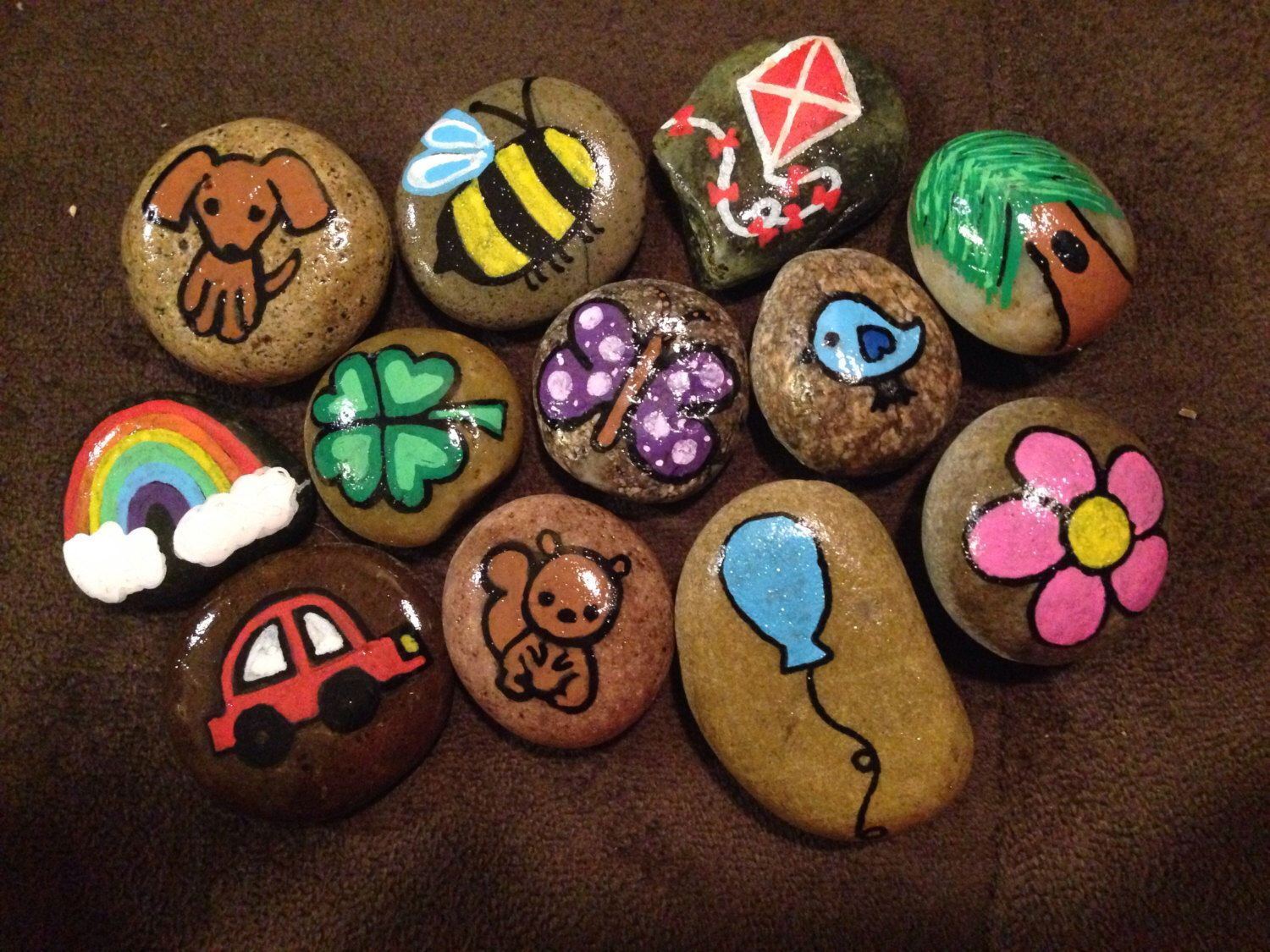 Day at the Park Story Stones with Storage Bag | Story stones, Stone ...