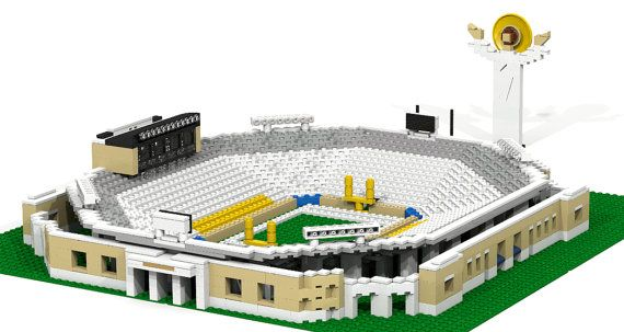 Notre Dame Stadium With Touchdown Jesus Brick Model I Want This
