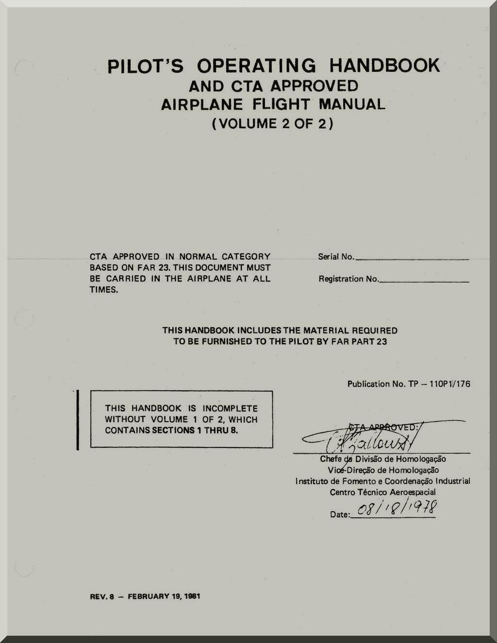 Air Pilot Manual Volume 2 Electrical Wiring Diagram For The Es10pc System Array Embraer Emb 110 Aircraft Flight Operating Hanadbook Rh Pinterest