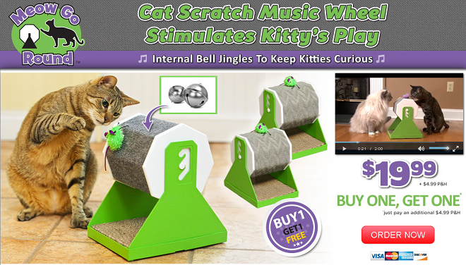 Rate This Product Meow Go Round Is A Wheeled Cat Toy That Has Catnip Infused In The Surface Does It Work Read Our Meow Go Round Review Cat Toys Cat Gym