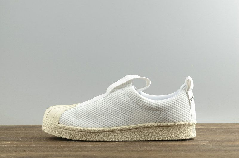 adidas superstar slip on blancas