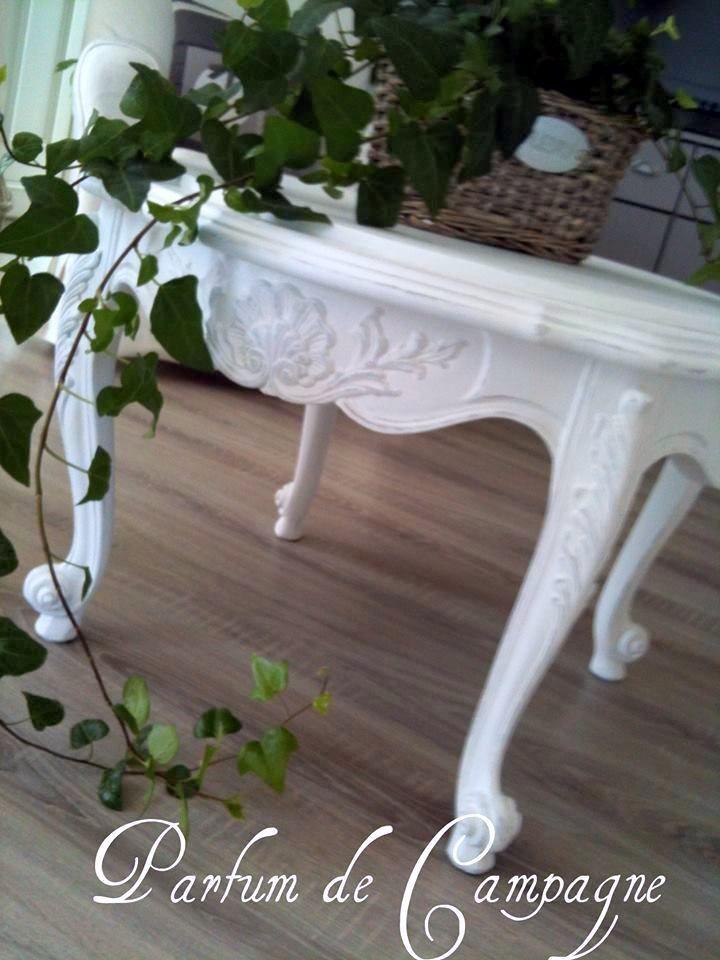 table de salon patiné blanche Diy meubles Pinterest Tables