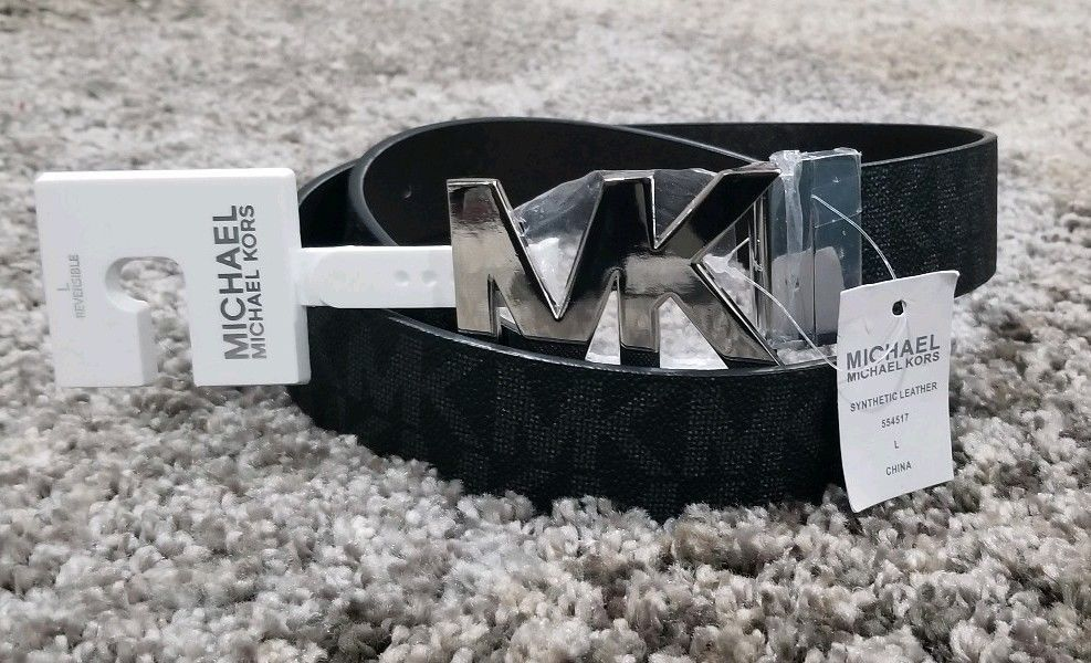c6e4bea3d MICHAEL KORS WOMEN'S BLACK SIGNATURE MK LOGO SILVER BUCKLE BELT SIZE L  31-34 #fashion #clothing #shoes #accessories #mensaccessories #belts (ebay  link)