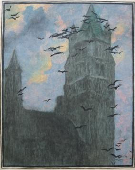 The Linosaurus: Lucien Levy-Dhurmer ---Lucien Levy-Dhurmer is showing 10th century Bruges' Cathedral.
