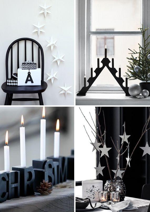 SignePling: Inspirasjon #Christmas #black #Holiday #decor