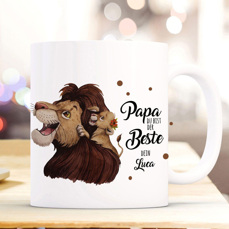 Kaffeetasse Papa Du bist cool Löwe Vatertag Geschenk