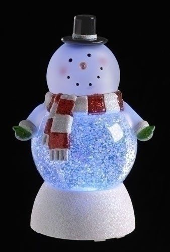 22 99 25 99 7 Led Lighted Color Changing Snowman Christmas Swirl Glitterdome From The Glitterdome Snow Globes Christmas Light Ornament Snowman Decorations