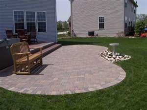 Curved Brick Paver Patio Patios Hardscapes Photo Gallery