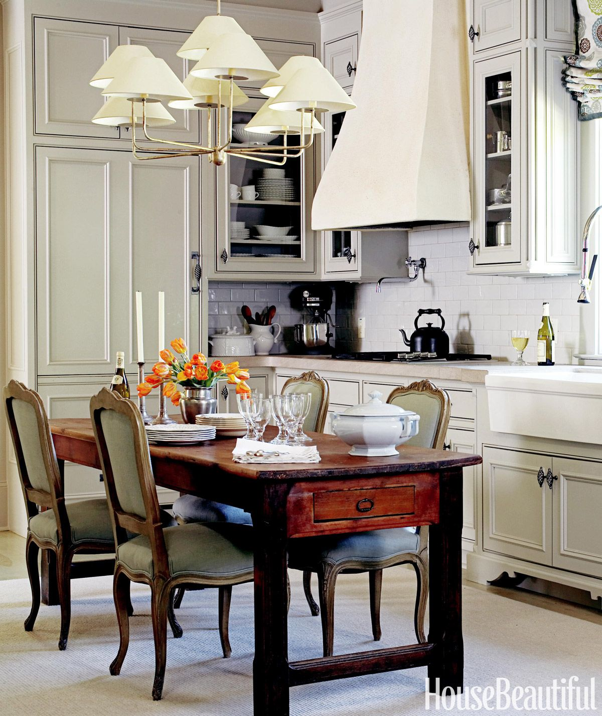French kitchen table   Chic and Elegant Kitchen Tables  Dining chairs Linens and Farming