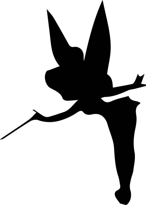 Diy and crafts tinkerbell and diy will clipart best for Black and white tinkerbell
