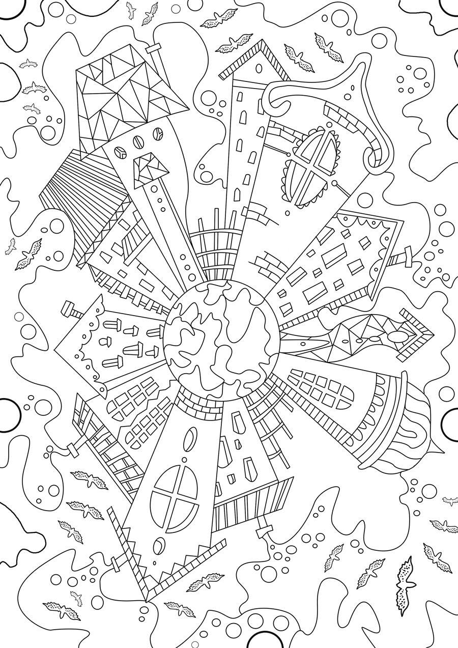 Magical City Coloring Book Designs Coloring Books Coloring Books Coloring Pages