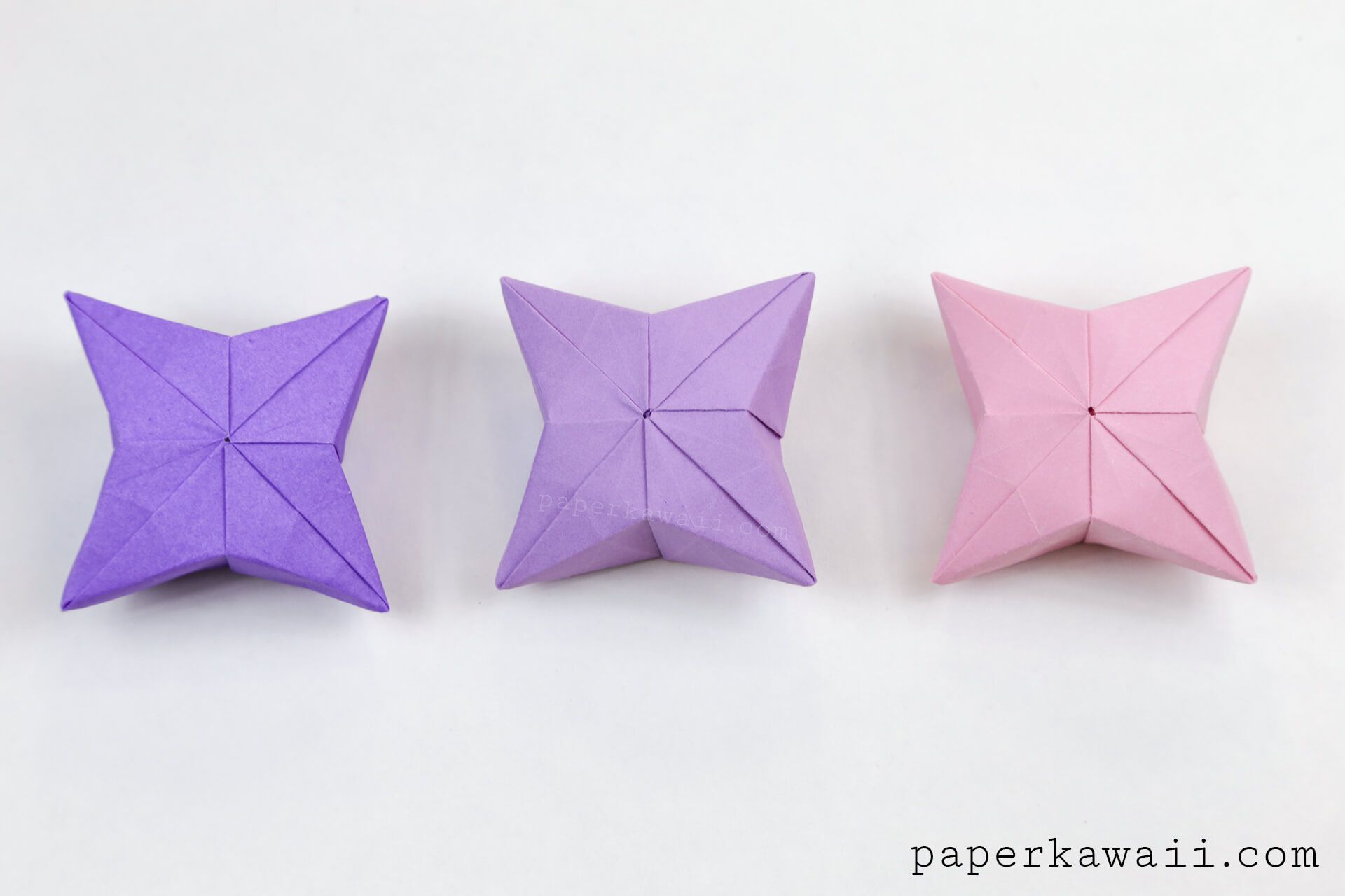 3D Origami Puffy Star Tutorial | Paper Kawaii - Origami ... - photo#21