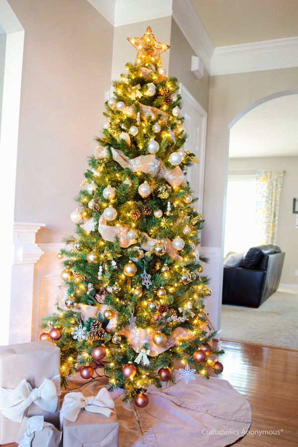 Gold Ombre Christmas Tree Reveal! Christmas tree, Ombre and - white christmas tree decorations