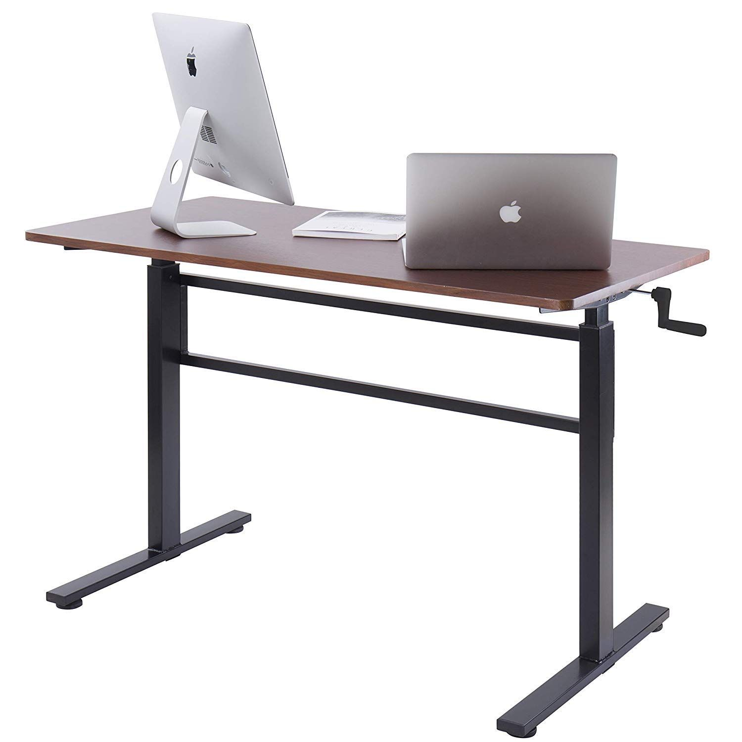 Unicoo crank adjustable height standing desk adjustable sit to