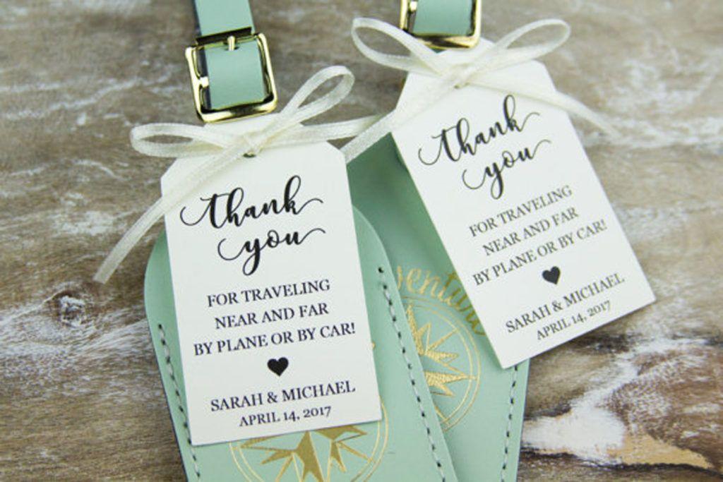 Custom Luggage Tags Wedding favor tags, Destination