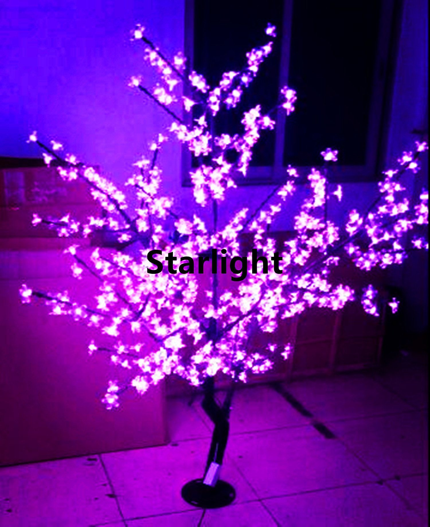 5ft 1 5m Changing Color Via Remote Controller21 Function Led Etsy Cherry Blossom Tree Blossom Trees Christmas Tree Lighting