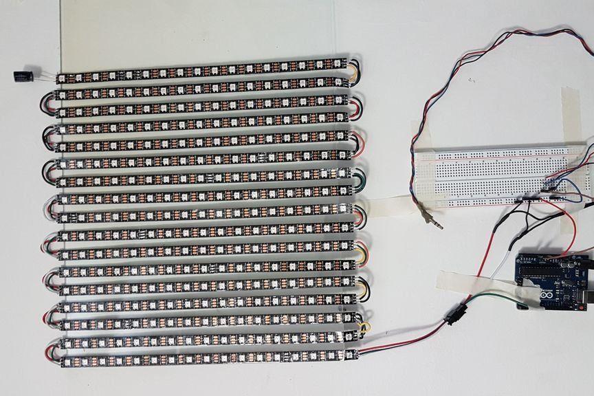 Led Panel Controlled With Arduino Arduino Led Arduino Led Panel