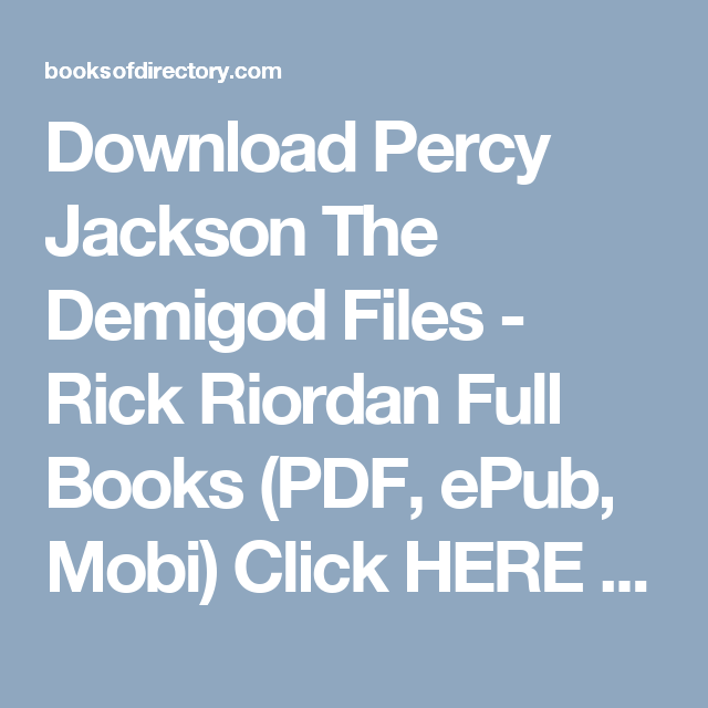 Percy Jackson Ebook Epub