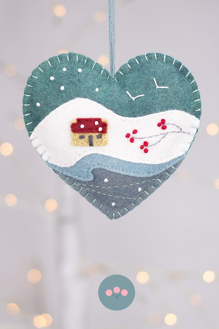 Irish cottage heart felt Christmas ornament #feltcreations