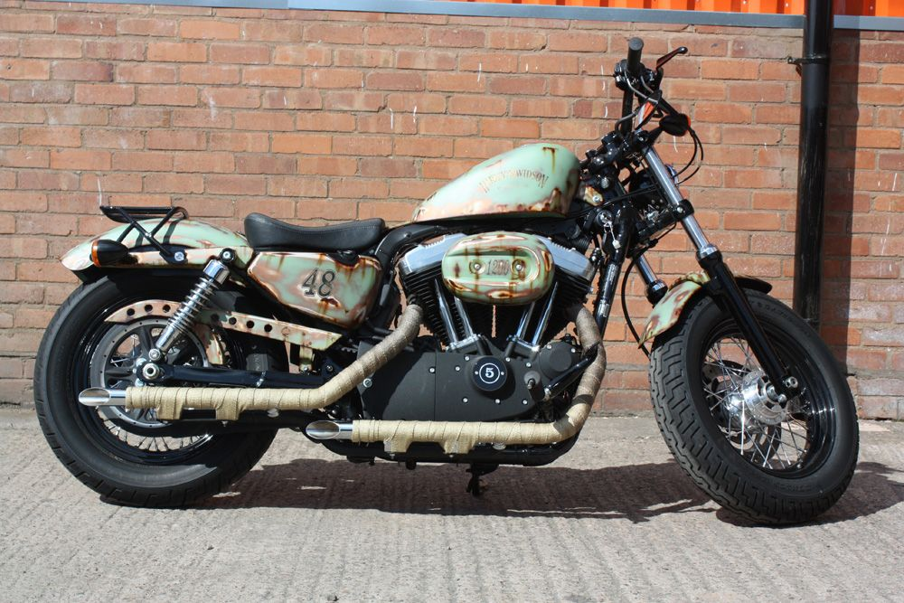 LOVE the paint job!!!!! Harley Davidson Sportster 48