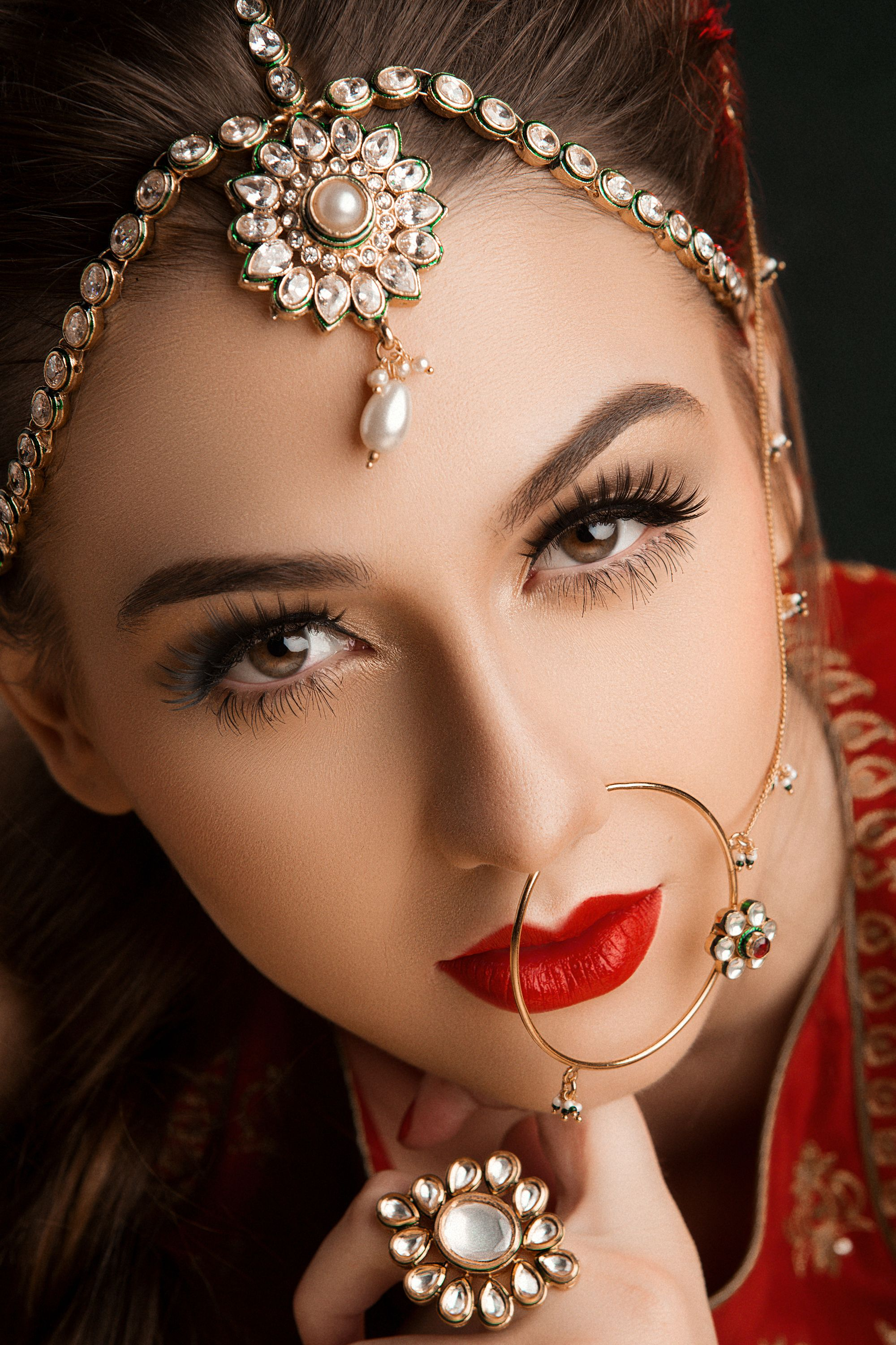 indian bridal makeup Bridal fashion jewelry, Indian