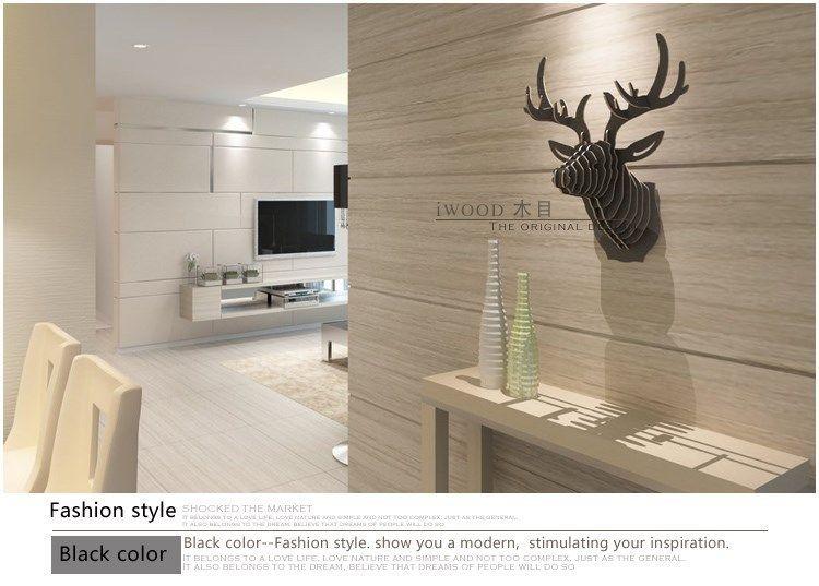 nordic home decorations!3d diy wood wooden crafts,mdf wall decor