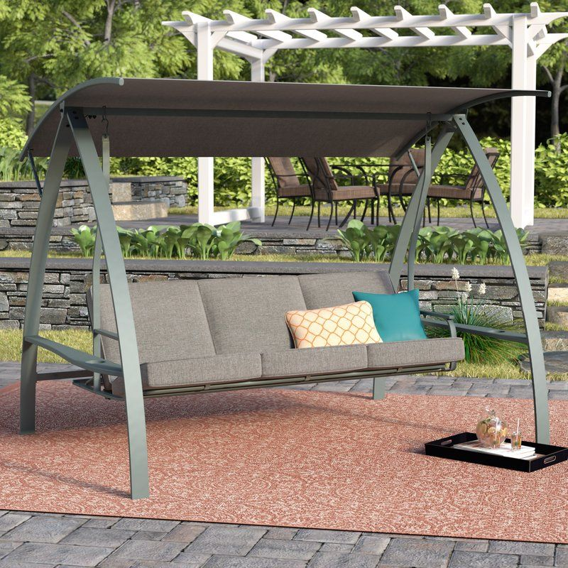 Marquette 3 Seat Daybed Porch Swing With Stand Porch Swing With Stand Hanging Porch Swing Porch Swing