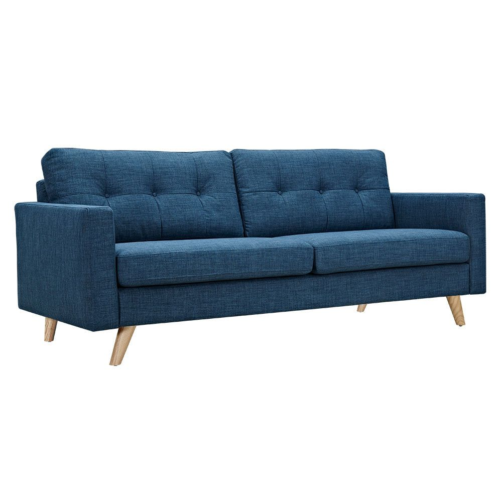 With doubled-up plush cushions, this Graham Sofa in Blue is the perfect place to sit in any contemporary home. With easy-to-clean upholstery and a simple yet elegant design, everything about this sofa ...  Find the Graham Sofa in Blue, as seen in the Sofas Collection at http://dotandbo.com/category/furniture/sofas-and-sectionals/sofas?utm_source=pinterest&utm_medium=organic&db_sku=109492