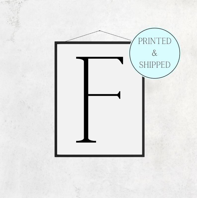 F Print Letter F Print Alphabet Print Letter Print Simple   Etsy