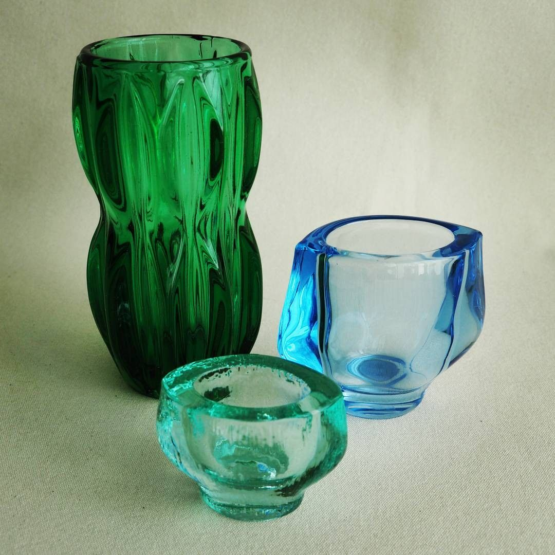 Pressed glass vases choice image vases design picture blue and green czech pressed glass vases designed by jan schmid blue and green czech pressed floridaeventfo Gallery