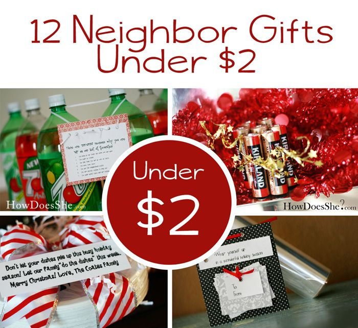 Under 2 Twelve Neighbor Gifts Under 2 Neighbor Christmas