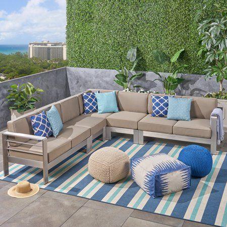 Aluminum Sectional Sofa Set