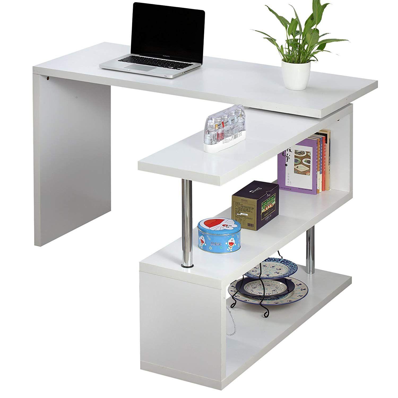 Voilamart Office Computer Desk L Shaped Wood Corner Desk Large Pc
