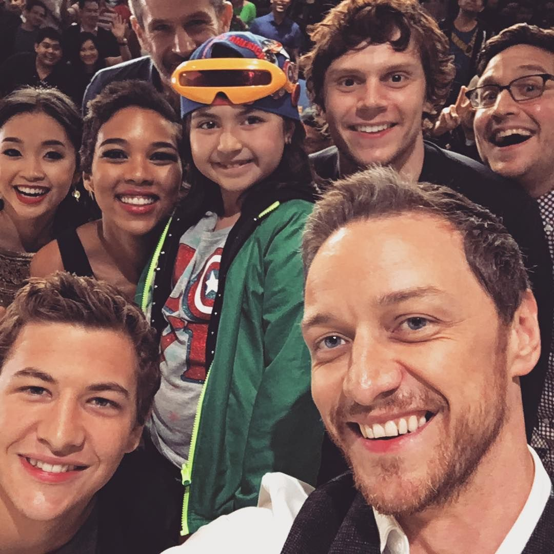 joshuahorowitzFun night w/the #xmen gang last night. Our Q&A should pop up on @itunesmovies soon. Photo by James McAvoy. #xmenapocalypse