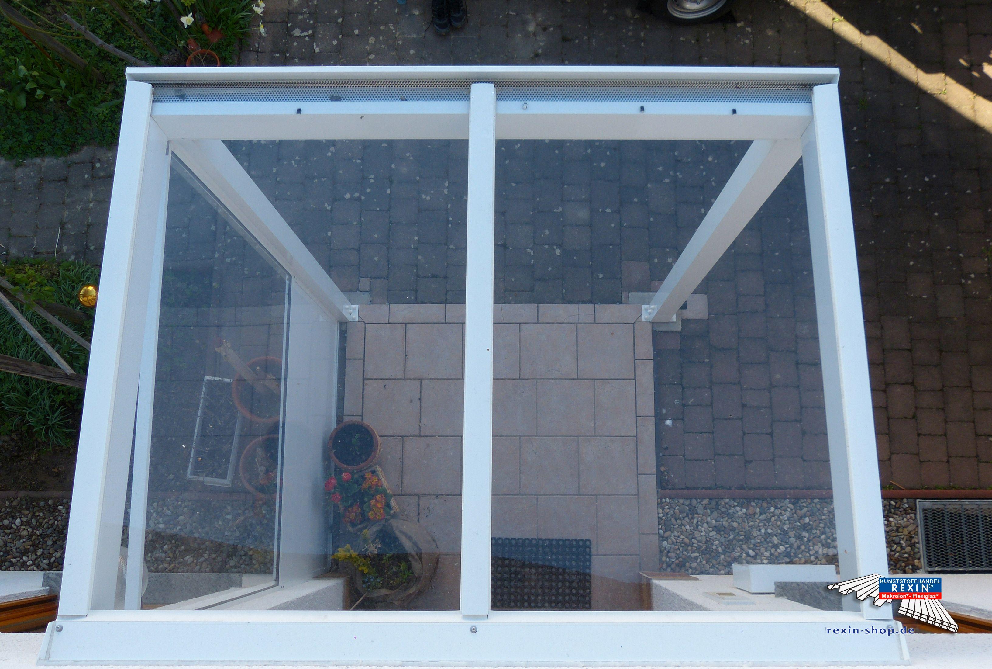 Ein Alu Hausturvordach Der Marke Rexovita 2m X 1 5m In Weiss Mit