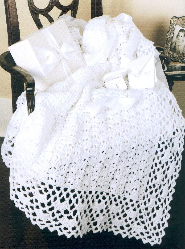 crochet baby blanket patterns | Pattern 001 - Crochet Pattern White ...