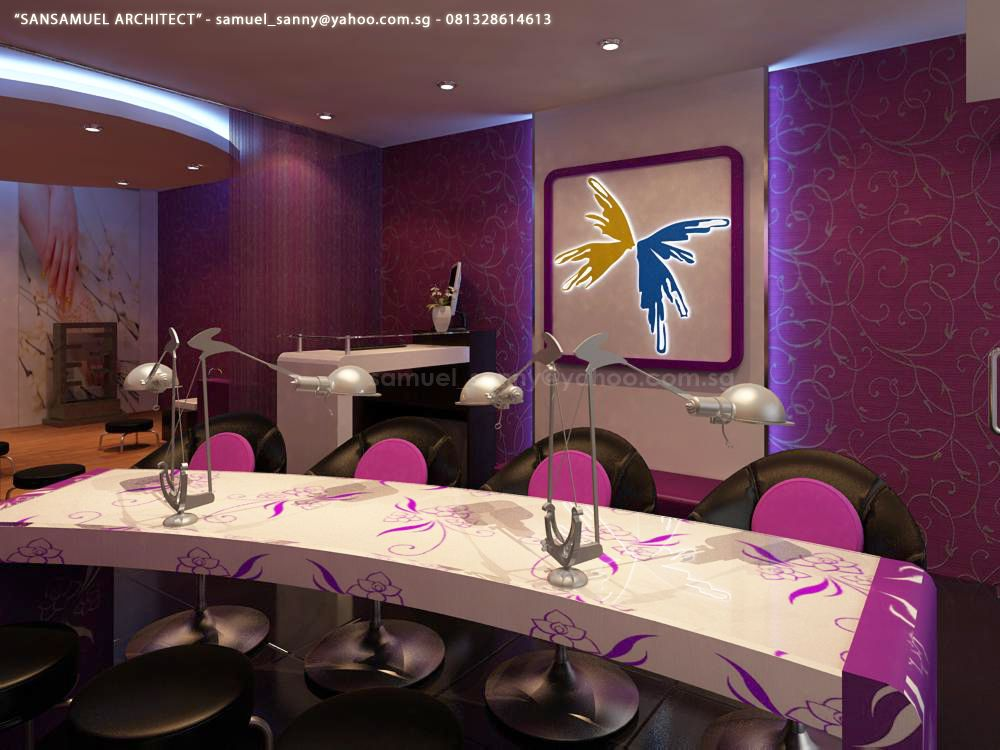 Nail salon decoration nail salon 05 by sansamuel - Decoration salon photo ...