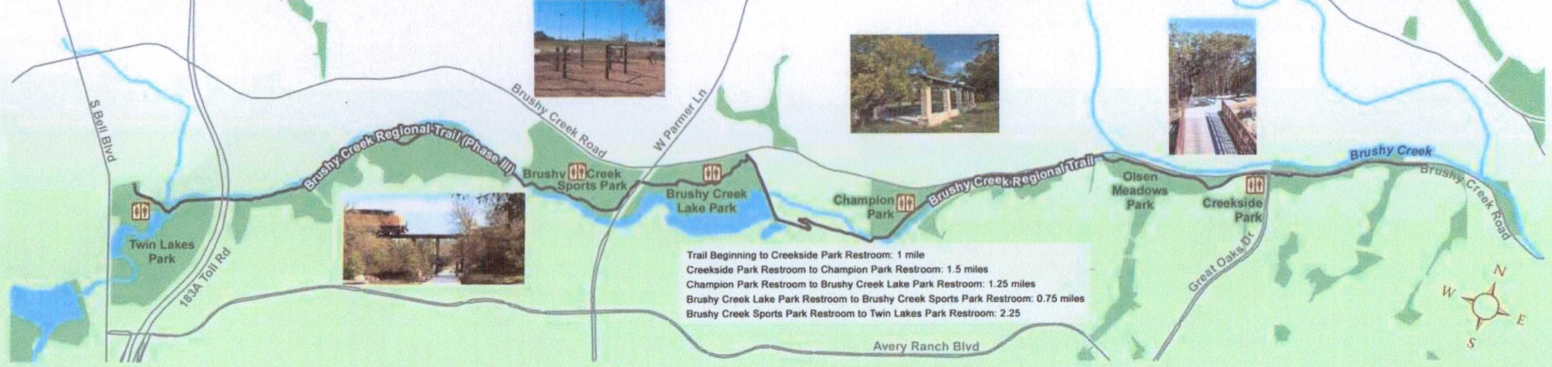 Cedar park tx brushy creek lake park regional trail