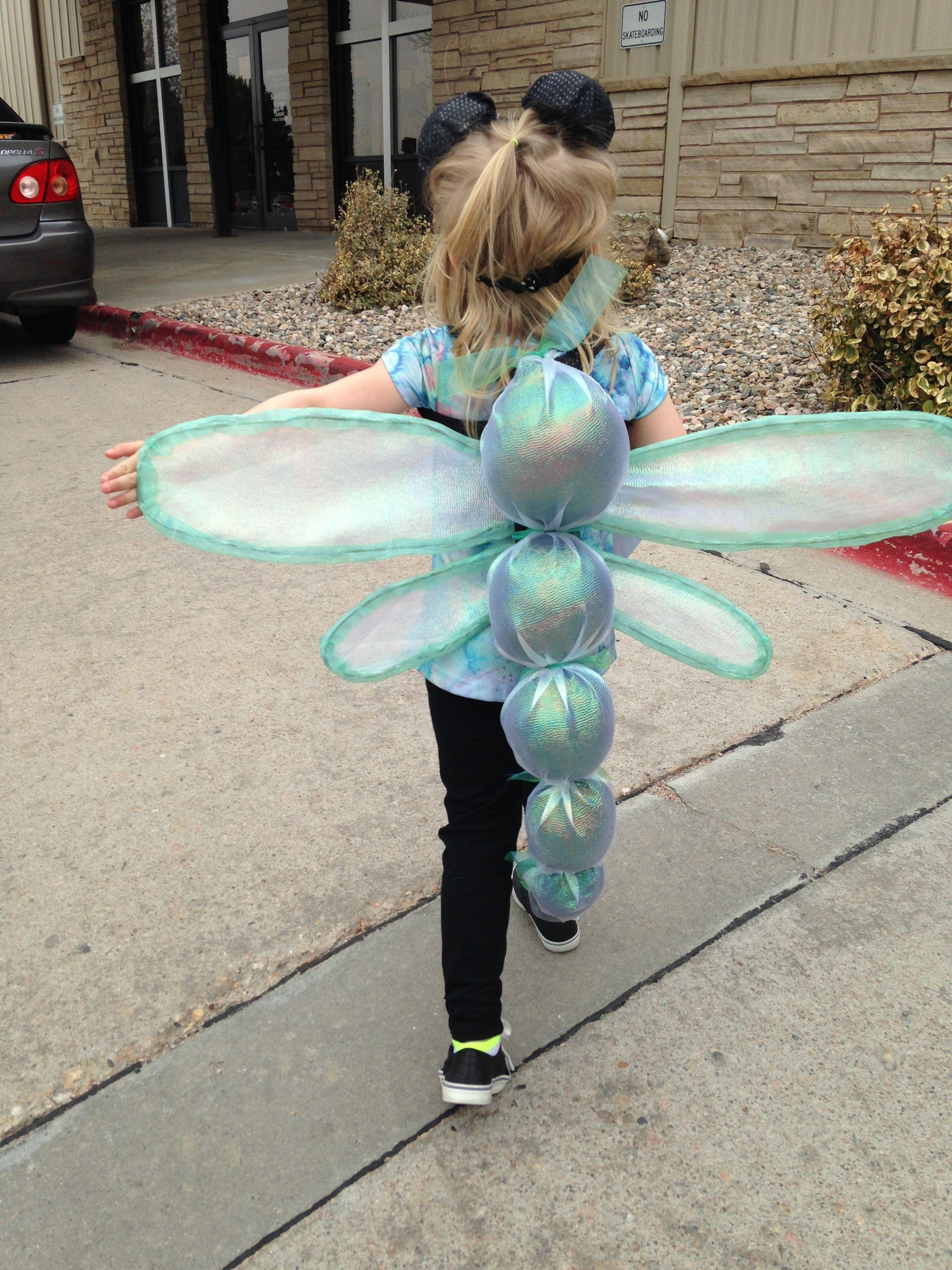 Dragonfly costume kids kost m kost me karneval halloween deko ideen - Ideen karneval ...