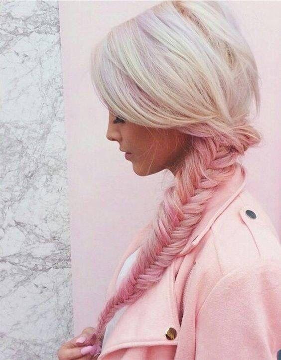 Pretty ! Blonde / rose pink dip dye
