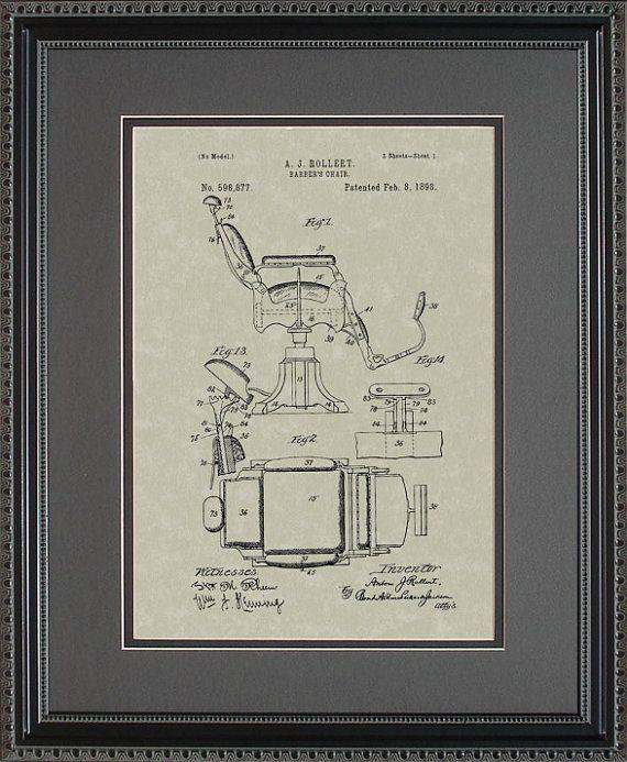 Barber Chair Patent Artwork Barber Shop Ideas Pinterest - ausergewohnliche relax liege hochster qualitat