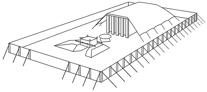 A Line Drawing By Jeremy Beck Depicting The Tabernacle In The Wilderness Tabernacle The Tabernacle Line Drawing