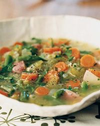 Spring Vegetable Soup with Tarragon  This light soup is laden with nutrient-dense root vegetables like potatoes (vitamin C), carrots (beta-carotene) and onions (chromium, which helps maintain blood sugar levels). In the summer, Stéphane Vivier purees the soup and serves it chilled with the freshest herbs he can find.