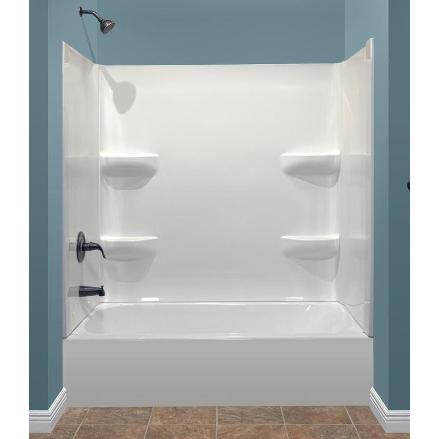 Style Selections White Acrylic Rectangular Bathtub Bathtub With